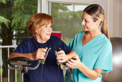caregiver with elderly